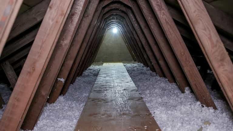 Efter Isolering af loft i Nivå