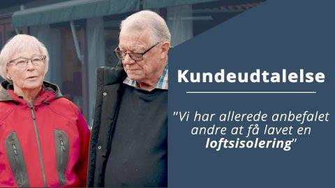 Isolering af loft i Nivå.